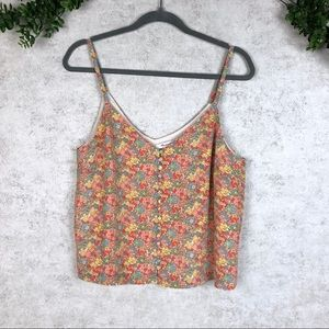Madewell 100% Silk Ditsy Floral Tank